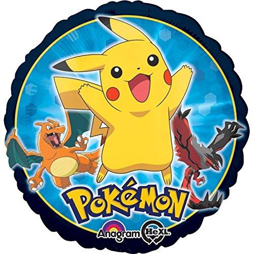(AMSCAN EUROPE Folienballon Pokémon 43cm, rund 0026635294614)