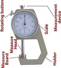 0-20mm Dial Gem Caliper Jade Pearl Jewelry Instrument Thickness Gauge Ruler Card Vernier Caliper Width Diameter Measurement Tool