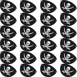 24 parches de pirata de fieltro para fiestas.