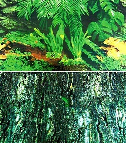 Trixie Terrarien Rückwand doppelseitig mit Tropic/bark Motiv, 150x 60cm, 1Stück