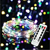 LED Dimmable Fairy Lights 10m 100 LEDs Waterproof 8 Modes Battery Powered Strip Lights for Garden Patio Party Easter Christmas Featival Hoiliday Indoor Outdoor Decoration Multicolor [Energy Class A+]