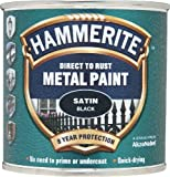 HAMMERITE Direct To Rust Satin Finish Black 250ml