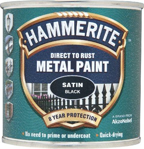HAMMERITE Direct to Rust Satin Finish Black 250ml -