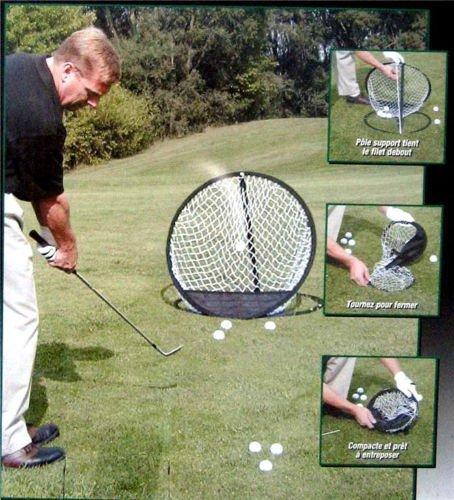A99- Set per allenarsi a golf, rete in stile pop up, diametro 45,5 cm