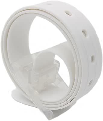 MEISHINE® 115 * 3.5cm Candy Colour Unisex Cintura in Silicone con Fibbia Plastica per Uomo Donna