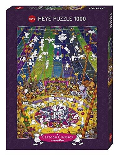 Heye 29755 - Circo Folle Puzzle 1000 Pezzi, Multicolore