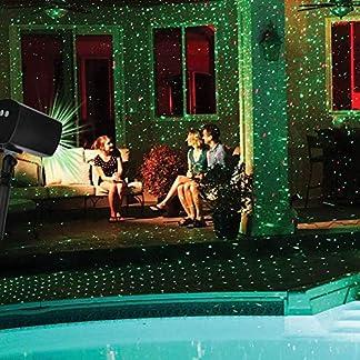 Lámpara de Proyección LED, Proyector de Navidad para Interior & Exterior IP65, iluminación de proyector de jardín, decoración de paredes, luz de fiesta (estrellas)