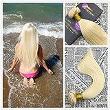 Best Hair Weave Blonde 3 Bundles - Moresoo 22inch 100g/bundle Human Hair Weave Bundles Blonde Review