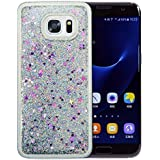 """Coque Samsung Galaxy S7 Edge Silicone Nnopbeclik® Paillettes Briller Style Backcover Doux Soft Transparente Housse pour Samsung Galaxy S7 Edge Coque Silicone """"G935F"""" (5.5 Pouce) Antichoc Protection Antiglisse Anti-Scratch Etui """"NOT S7 5.1"""" - [Argent]"""