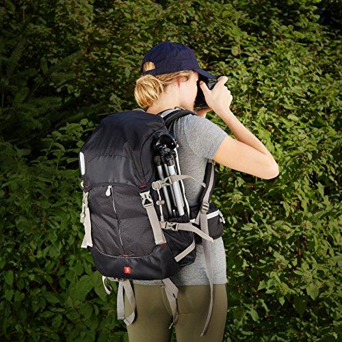 AmazonBasics - Zaino per fotocamera, serie Hiker, Nero Nero