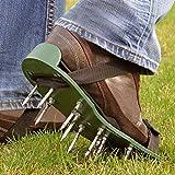Parkland® Rasenbelüfter, Nagelschuhe, Sandalen für den Garten zum Belüften des Rasens–2verstellbare Bänder, 13x 5cm tiefe Nägel