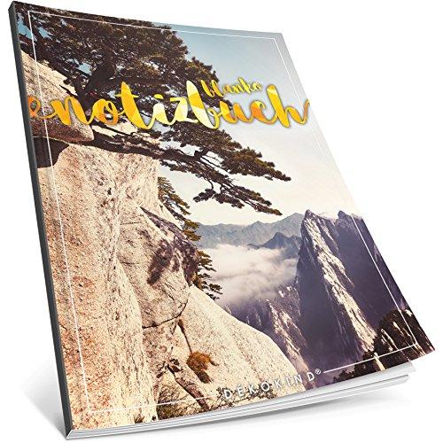 Dékokind® Blanko Notizbuch: Ca. A4-Format • 100 Seiten mit Inhaltsverzeichnis • Perfekt als Zeichenbuch, Sketchbook oder Malbuch für Erwachsene • ArtNr. 40 Klippe • Softcover