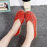 Zapatos planos fresco mujer,Sonnena Zapatos de mujer Sandalias de señora Flats Zapatilla casual de cuero con tobillo Zapatos suaves