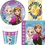 Nordlicht Frozen Eiskönigin Anna & Elsa 36 Teile Partyset für 8 Kinder