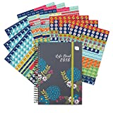 2018 Boxclever Press Life Book diary with Bumper Pack of Reminder Stickers (1,152 stickers). Week-to-view A5 Diary. Large spaces for each day. Starts straight away until December '18.