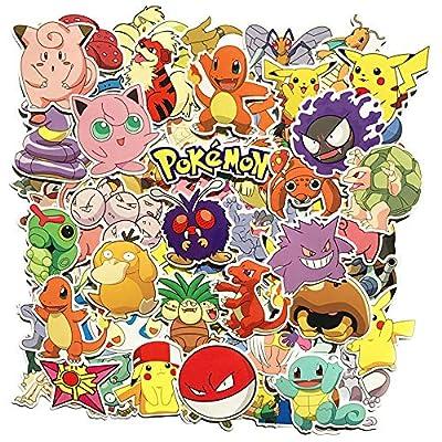 80 Unids Pokémon Paquete de Pegatinas, Pegatinas Únicas y Frescas para Niños Adolescentes Portátil Guitarra Patinetas de Viaje Pegatinas Impermeables por Sanmatic