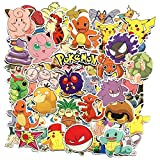 80 Stücke Pokemon Sticker Pack, einzigartige Kühle Aufkleber Kind Teenager Notebook Gitarre Skateboard Reise Aufkleber Wasserdicht