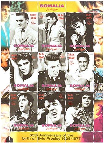 Elvis Presley Briefmarken - 65. Jahrestag der Geburt von Elvis Presley von 1935 bis 1977 - Mint und postKleinBogen mit 1 Briefmarke