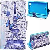 Voguecase® Para Wiko Pulp,Funda Carcasa Cuero Tapa Case Cover(Torre 02) + Gratis aguja de la pantalla stylus universales