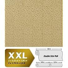 Papel pintado no tejido arte de imitación azulejos con mosáico decorativo EDEM 928-38 en beige marrón oro 10,65 m2
