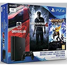 SONY CONSOLE PS4 1TB + UNCH.4 + RAT&CLA + DRIVECLU