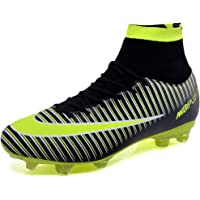 BOLOG Football Boots Men's High Top Spikes Soccer Training Shoes Kids Soccer Boots Cleats Profession Athletics Teenager…
