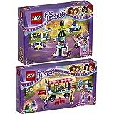 Lego Friends Freizeitpark 2er Set 41128 41129 Raketen-Karussell + Hot-Dog-Stand im Freizeitpark - sofort lieferbar!