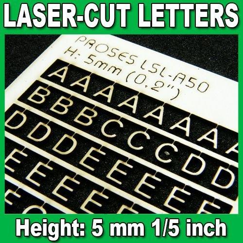 Proses LSL-A50 Lettres Découpées au Laser 5mm (1/5 inch)