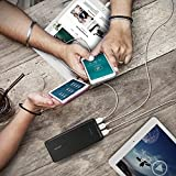 Powerbank RAVPower 22000mAh 5,8A Ausgang 3-Port Externer Akku Pack USB Ladegerät (2,4A Eingang, iSmart 2.0 USB Anschluss, Lithium-Polymer-Akku) für Smartphone Tablet und weitere, Schwarz