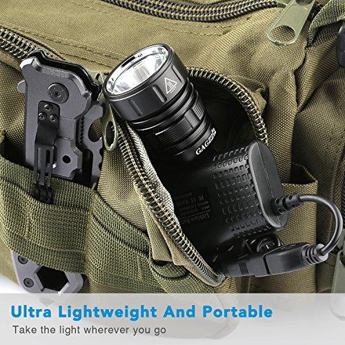 LED Fahrradlicht, USB Wiederaufladbar Taschenlampe Frontlicht Set Super Helle 1200 LM Wasserdichte LED Fahrradbeleuchtung mit Akku-Pack und Rücklicht - 6