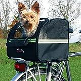 WANGADO Cesta da bici per animali max di 8 kg, in robusto poliestere, utilizzabile come trasportino, con copertura in rete, inserto in pile e guinzaglio integrato