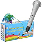 REES52 Intelligent 3D Pen 3D Printing Drawing Printer Pen for Arts and HandCrafts DIY for Kids and Adults. Compatible with Fr