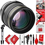 Opteka 85mm F/1.8 Manual Focus Aspherical Medium Telephoto Portrait Lens For Canon EOS 80D, 77D, 70D, 60D, 7D, 6D, 5D, 7D Mark II, T7i, T6s, T6i, T6, T5i, T5, SL1 & SL2 Digital SLR Cameras - B079XV8V7S
