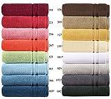 Handtücher Serie Manhattan Gold, in Luxus-Qualität Waschhandschuh, Gästetuch, Handtuch und Duschtuch, Grösse 2 x Handtücher 50x100 cm, Farbe 366 mount