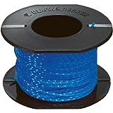 BLACK & DECKER A6440-XJ - Repuesto hilo de 25m de largo y 1.5 mm de diámetro, hilo trenzado para un mejor corte y mayor resis