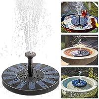 Bomba de Agua, ikalula Mini Fuentes Sumergible Exterior Decorativas Energía Solar Bomba sumergible para el baño del pájaro, tanque de pescados, Decoración de jardín