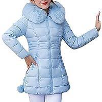 Lulupi Cappotto Trapuntato Invernale da Donna Lungo Giacca Donna Parka vestibilità Slim Cappotto Caldo Collo in…
