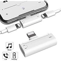 Kopfhörer-Adapter für iPhone X-Adapter AUX-Audio-Jack-Adapter für iPhone XS Max/X / 8/8 Plus / 7/7 Plus [Audio-Lautstärkeregler] Mini-Kopfhörer-Zubehör-Konverter Unterstützung für alle iOS-Geräte