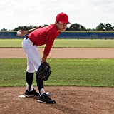 Champion Sports Official Pitcher's Plate: Regulation Baseball & Softball Pitching Rubber Strip - Training & Practice Equipment With Metal Spikes