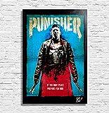 The Punisher (Marvel Comics) - Original Gerahmt Fine Art Malerei, Pop-Art, Poster, Leinwand, Artwork, Film Plakat, Leinwanddruck