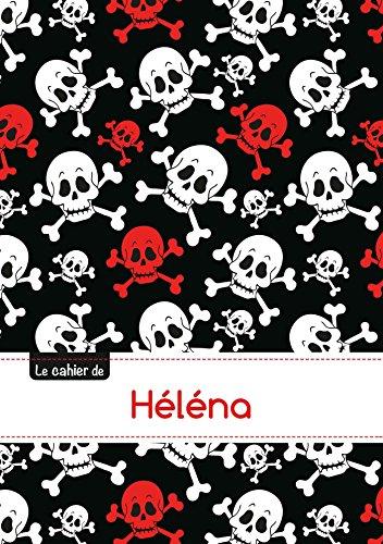 Le carnet de Héléna - Blanc, 96p, A5 - Têtes de mort par Collectif