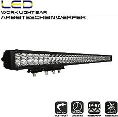 """AFTERPARTZ D4 LED Arbeitsscheinwerfer Bar Neue Reflektor-Lichtschale Osram Chips 27250LM Combo Scheinwerfer Arbeitslicht, D5 40"""", 40"""" D5"""