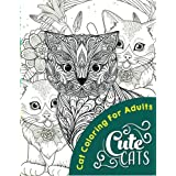 Cute Cats (Adult coloring books)