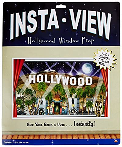Beistle 52312 Hollywood Insta View, 3-Feet 2-Inch by 5-Feet 2-Inch