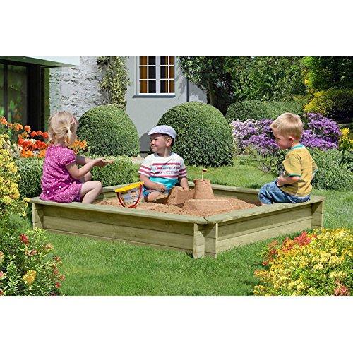 Preisvergleich Produktbild Sandkasten 150x150 cm aus Holz imprägniert von Gartenpirat®