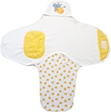 BRIM HUGS & CUDDLES Cotton Printed Swaddle for Baby's (Yellow)