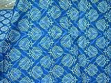 Tela de algodón serigrafiada india para vestido de verano, tela de algodón bohemio