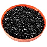 eshoppee Black, Grey Family Colors Glass Seed Beads Pot 100 gm (Approx 3000 Beads) for Jewellery Making and Home Decoration,DIY kit (Black 06) Size 8/0