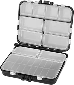 10 Fächer Plastik Zubehör Wobbler Box Angelkoffer Angelbox Köderbox-Angelkasten