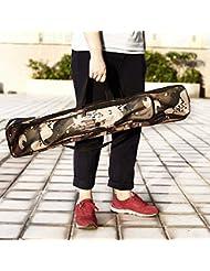 unory (TM) bolsa de aparejos de pesca bolsa de 80cm para caña de pescar doble capa de camuflaje multifuncional bolsa de pesca al aire libre
